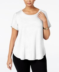 Alfani Plus Size High Low T Shirt Soft White
