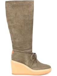 See By Chloe Wedge Boots Grey