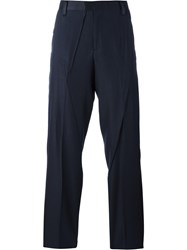 Undercover Creased Tailored Trousers Blue