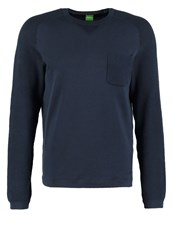 Hugo Boss Green Reight Jumper Navy Dark Blue