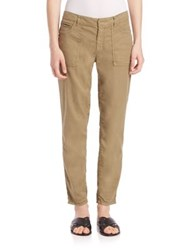 Set Cropped Slim Chinos Matcha Green