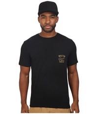 Brixton Dunhill Short Sleeve Pocket Tee Black Men's T Shirt