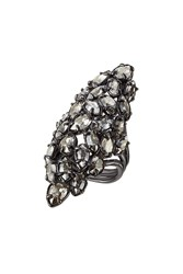 Alexis Bittar Ruthenium Ring With Swarovski Crystals