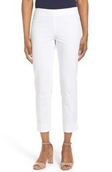 Women's Lafayette 148 New York 'Stanton' Slim Leg Ankle Pants White
