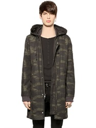 Blk Dnm Camo Printed Cotton Canvas Parka