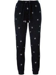 Zoe Karssen Embroidered Spider Track Pants Black