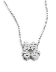 Alex Woo Faith Double Happiness Pendant Necklace Silver