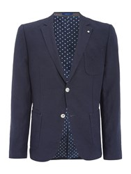Peter Werth Teller Patch Pocket Cotton Blazer Blue