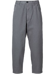 Comme Des Gara Ons Shirt Cropped Trousers Grey