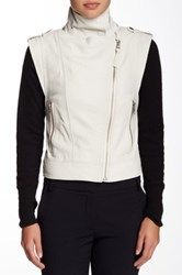 Mackage Rea Colorblock Moto Vest White