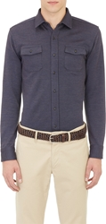 Alexander Olch Double Faced Shirt Jacket Navy