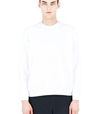 Aiezen Cotton Crew Neck Sweater White