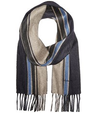Salvatore Ferragamo Best Slim Scarf 526618 Blue Anthracite Scarves Navy