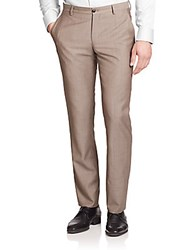 Giorgio Armani Textured Wool Dress Pants Spice