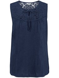 Fat Face Eve Lace Cami Navy