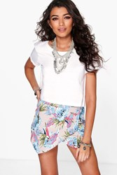 Boohoo Tropical Print Skort Multi