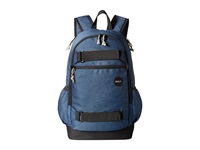 Rvca Push Skate Backpack Navy Heather Backpack Bags Gray