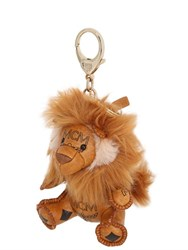 Mcm Lion Charm Key Holder