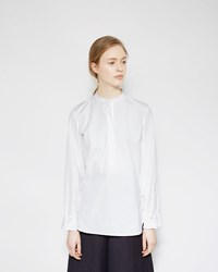 3.1 Phillip Lim Gathered Cuff Blouse White