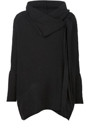 Forme D'expression Oversized Wrap Cardigan Black