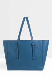 Valextra Soft Shopper Tote Blue