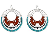 Gypsy Soule Southwest Oval Drop Earrings Silver Earring