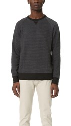 Billy Reid Fisher Crew Pullover Charcoal