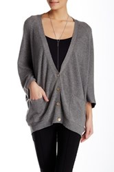 Lulu Solid Dolman Sleeve Cardigan Gray