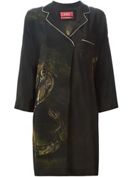 For Restless Sleepers Tiger Print Robe Brown