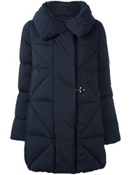 Fay Simple Fastening Mid Coat Blue