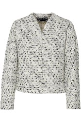 Rochas Boucle Tweed Jacket White