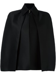 Dsquared2 Draped Pleat Detail Cape Black