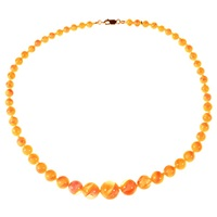Alice Joseph Vintage 1930S Gold Plated Glass Bead Necklace Peach Yellow