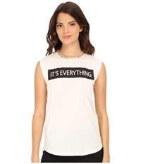 Rachel Zoe Lettie T Shirt White Black Women's T Shirt