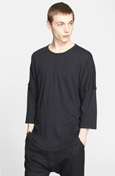 Men's Chapter 'Stalt' T Shirt Black Beige Fray