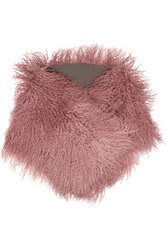 Karl Donoghue Ombre Shearling Scarf Pink