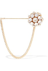 Dolce And Gabbana Gold Tone Crystal Brooch