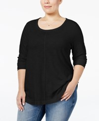 Styleandco. Style Co. Plus Size Long Sleeve T Shirt Only At Macy's Deep Black