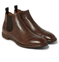 Officine Creative Princeton Leather Chelsea Boots Brown