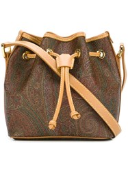 Etro 'Amoebae' Crossbody Bag Brown