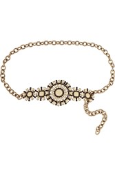 Valentino Embellished Chain Waist Belt White