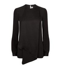 Victoria Beckham Drape Front Top Female Black