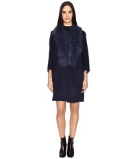 Zac Posen Lauren Wrap Coat Navy Azurite Women's Coat