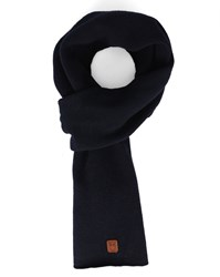 Knowledge Cotton Apparel Navy New Wool Scarf Blue