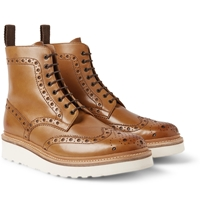 Fred Leather Brogue Boots