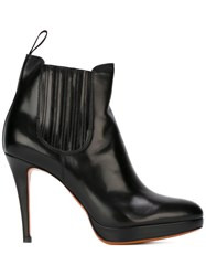 Santoni High Heel Boots Black