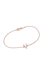 Jennifer Meyer Jewelry Diamond Wishbone Bracelet Rose Gold