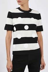 Polka Dot Tee By Boutique Monochrome