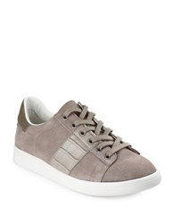 Sam Edelman Marquette Lace Up Suede Sneakers Grey