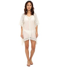 Ella Moss Fez Tunic Cover Up Cream Women's Swimwear Beige
